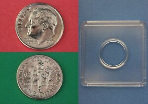 1997 D ROOSEVELT DIME WITH 2X2 SNAP FROM MINT SETS FLAT RATE SHIPPING