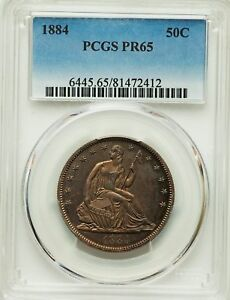 Click now to see the BUY IT NOW Price! 1884 US SILVER 50C SEATED LIBERTY HALF DOLLAR PROOF   PCGS PR65
