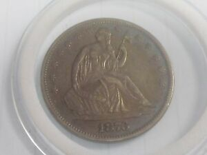 1876 SEATED LIBERTY HALF DOLLAR SILVER ROUND   FINE DETAILS PRESENT