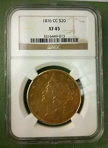 CARSON CITY 1876 CC $20 LIBERTY HEAD XF 45 NGC DOUBLE DIE MOTTO  VARIETY