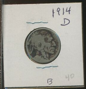 BUFFALO NICKELS    1914 D   R DATE