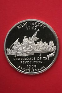 SILVER 1999 S NEW JERSEY STATE QUARTER EXACT COIN SHOWN FLAT RATE SHIP TOM12