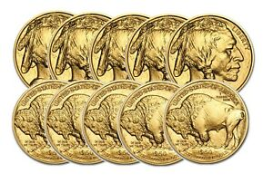 Click now to see the BUY IT NOW Price! TEN BACK DATE BU 1OZ GOLD BUFFALO BETWEEN 2008 & 2017  BDGB