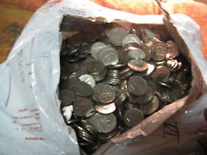 Click now to see the BUY IT NOW Price! HUGE LOT OF 5000 COINS  CANADIAN 5 CENT COINS FROM KING GEORGE VI ERA 1937 1952