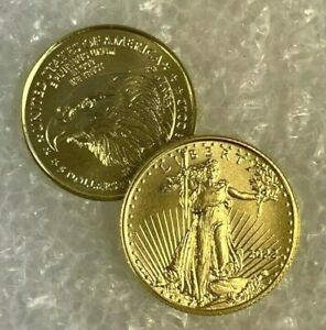 2019 GOLD 1/10 OZ GOLD AMERICAN EAGLE $5 US MINT GOLD EAGLE COIN