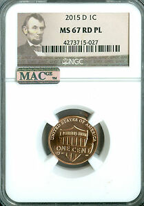 Click now to see the BUY IT NOW Price! 2015 D SHIELD CENT NGC MAC MS67 RED PQ PL SPOTLESS  LOW POP