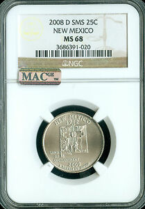 Click now to see the BUY IT NOW Price! 2008 D NEW MEXICO QUARTER NGC MAC MS68 SMS PQ FINEST POP 18 SPOTLESS