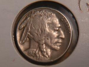 1929 S BUFFALO NICKEL SMALL MARK ON CHECK VF XF DETAILS 4743