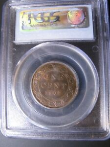 Click now to see the BUY IT NOW Price!   1907H   PCGS GRADED CANADIAN LARGE ONE CENT   MS 64