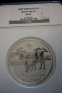 Click now to see the BUY IT NOW Price!   2009P  YEAR OF THE OX .999 SILVER $30 AUSTRALIA 1 KILO COIN   NGC MS 69