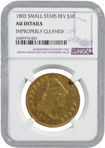 Click now to see the BUY IT NOW Price! NGC AU DETAILS GOLD 1803 SMALL STARS REV $10 TURBAN HEAD  47