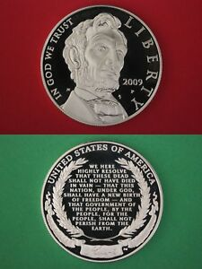 2009 P PROOF ABRAHAM LINCOLN COMMEMORATIVE SILVER DOLLAR DCAM FLAT RATE SHIPPING