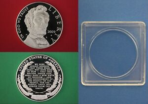 2009 P PROOF ABRAHAM LINCOLN COMMEMORATIVE SILVER DOLLAR DCAM WITH 2X2 SNAP CASE