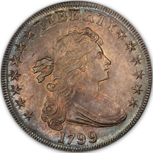 Click now to see the BUY IT NOW Price! 1799 $1 DRAPED BUST DOLLAR PCGS MS64