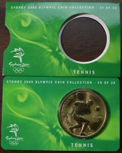 2000 AUSTRALIA SYDNEY OLYMPIC COIN COLLECTION TENNIS COMMEMORATIVE COIN