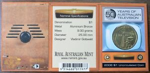 2006 M AUSTRALIA $1 50 YEARS OF TELEVISION COMMEMORATIVE COIN