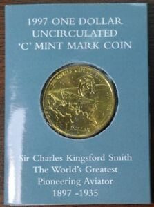 1997 AUSTRALIA SIR CHARLES KINGSFORD SMITH $1 COMMEMORATIVE COIN