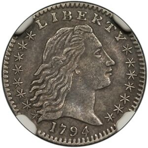 Click now to see the BUY IT NOW Price! 1794 FLOWING HAIR HALF DIME H10C NGC AU50