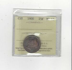 Click now to see the BUY IT NOW Price!   1900   ICCS GRADED CANADIAN 25 CENT   MS 65