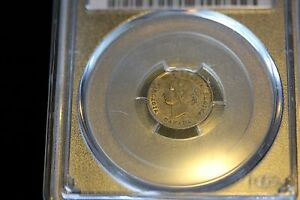 Click now to see the BUY IT NOW Price!   1875H LARGE DATE   PCGS GRADED CANADIAN SILVER 5 CENT   AU 55