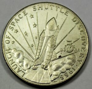1988 M MARSHALL ISLANDS 5 DOLLAR DISCOVERY SHUTTLE COMMEMORATIVE   UNCIRCULATED