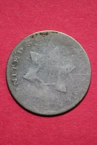 LOW GRADE NO DATE SEATED LIBERTY TRIME 3 CENT SILVER FLAT RATE SHIPPING OCE 011