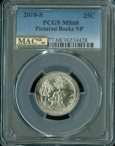 Click now to see the BUY IT NOW Price! 2018 S PICTURED ROCK QUARTER PCGS MAC MS 68 PQ SOLO FINEST SPOTLESS