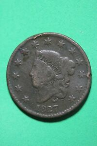 1827 CORONET HEAD LARGE CENT EXACT COIN PICTURED FLAT RATE SHIPPING OCE046