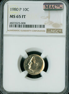 Click now to see the BUY IT NOW Price! 1980 P ROOSEVELT DIME NGC MAC MS65 FT PQ ONLY KNOWN SOLO FINEST SPOTLESS