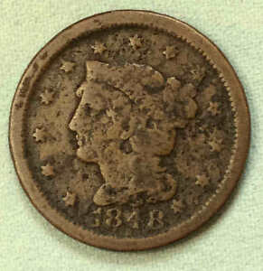 1848 LARGE CENT EARLY DATE