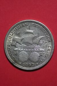 1893 COLUMBIAN EXPOSITION HALF DOLLAR EXACT COIN SHOWN FLAT RATE SHIPPING OCE368