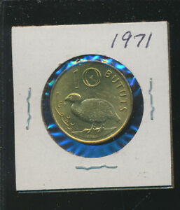GAMBIA   10 BRUTOS BIRD 1971 BU