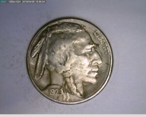1929 S 5C BUFFALO NICKEL   21 270   LAMINATION ERROR