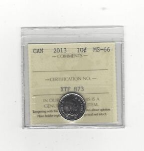 Click now to see the BUY IT NOW Price!   2013   ICCS GRADED CANADIAN  10  CENT   MS 66