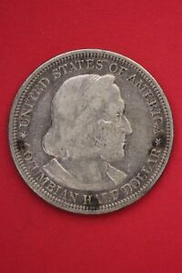 1893 COLUMBIAN EXPOSITION HALF DOLLAR EXACT COIN SHOWN FLAT RATE SHIPPING OCE354
