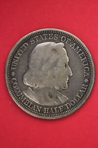 1893 COLUMBIAN EXPOSITION HALF DOLLAR EXACT COIN SHOWN FLAT RATE SHIPPING OCE399
