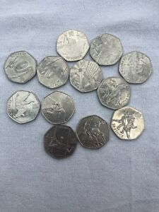 LONDON OLYMPIC 2012 50P COINS   12 COINS