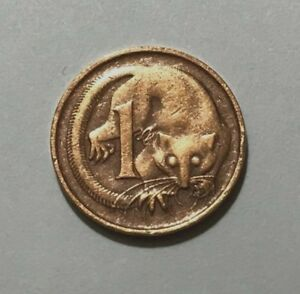 AUSTRALIA 1 CENT FEATHER TAILED GLIDER ANIMAL WILDLIFE COIN