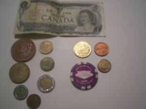 LOT OF 12 VARIOUS COINS AND TOKENS