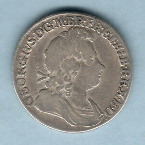 GREAT BRITAIN. 1723 SSC   GEORGE 1 SHILLING..  FINE