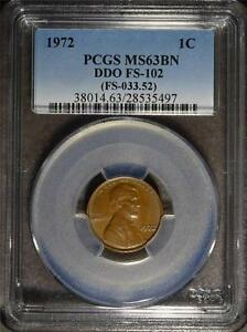 1972 PCGS MS63 BN LINCOLN CENT DDO ERROR DOUBLED DIE  PENNY SHIPS FREE 497