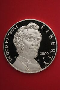2009 P PROOF ABE LINCOLN COMMEMORATIVE SILVER DOLLAR EXACT COIN SHOWN OCE323