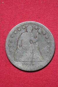 CULL 1857 P SEATED LIBERTY HALF DIME EXACT COIN SHOWN FLAT RATE SHIPPING OCE 156