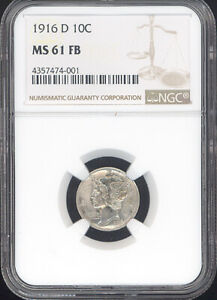 Click now to see the BUY IT NOW Price! 1916 D 10C MERCURY DIME NGC MS61 FB FULL BANDS