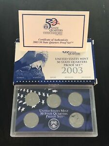 2003 50 STATE QUARTERS PROOF SET IN ORIGINAL GOV'T PACKAGING WITH COA