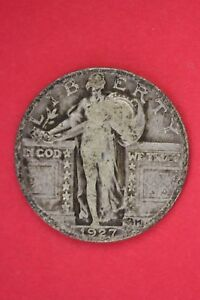 1927 P STANDING LIBERTY QUARTER EXACT COIN PICTURED FLAT RATE SHIPPING OCE120