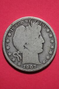 1907 O BARBER LIBERTY HALF DOLLAR EXACT COIN PICTURED FLAT RATE SHIPPING OCE287