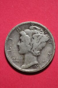 1925 D WINGED MERCURY DIME EXACT COIN SHOWN 90  SILVER FLAT RATE SHIPPING OCE013