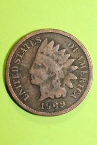 1909 INDIAN HEAD CENT PENNY EXACT COIN PICTURED FLAT RATE SHIPPING OCE 1112