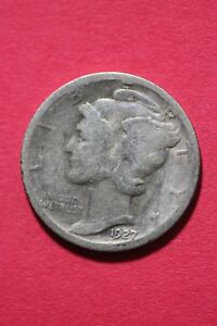 1927 P WINGED MERCURY DIME EXACT COIN SHOWN FLAT RATE SHIPPING TOM 057